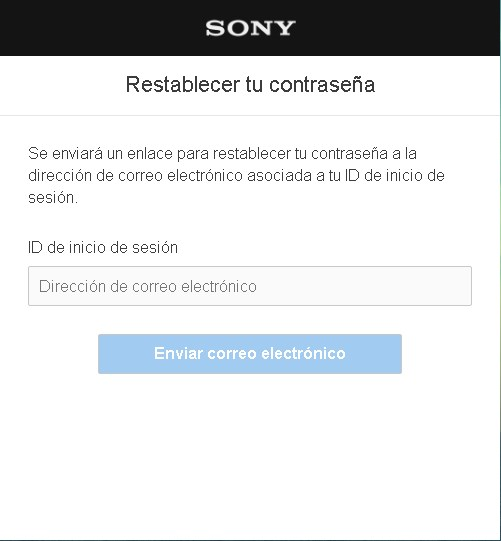 Recuperar contraseña PlayStation network
