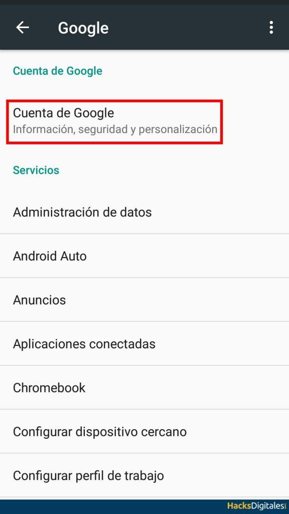 Recuperar Contraseña Android