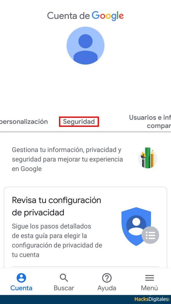 Restablecer Contraseña Android