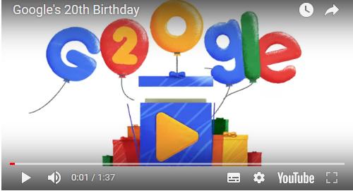 Cuando es el aniversario del búscador Google